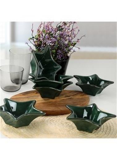 Keramika Keramika Zümrüt Yıldız Çerezlik / Sosluk 16 Cm 6 Adet Renkli